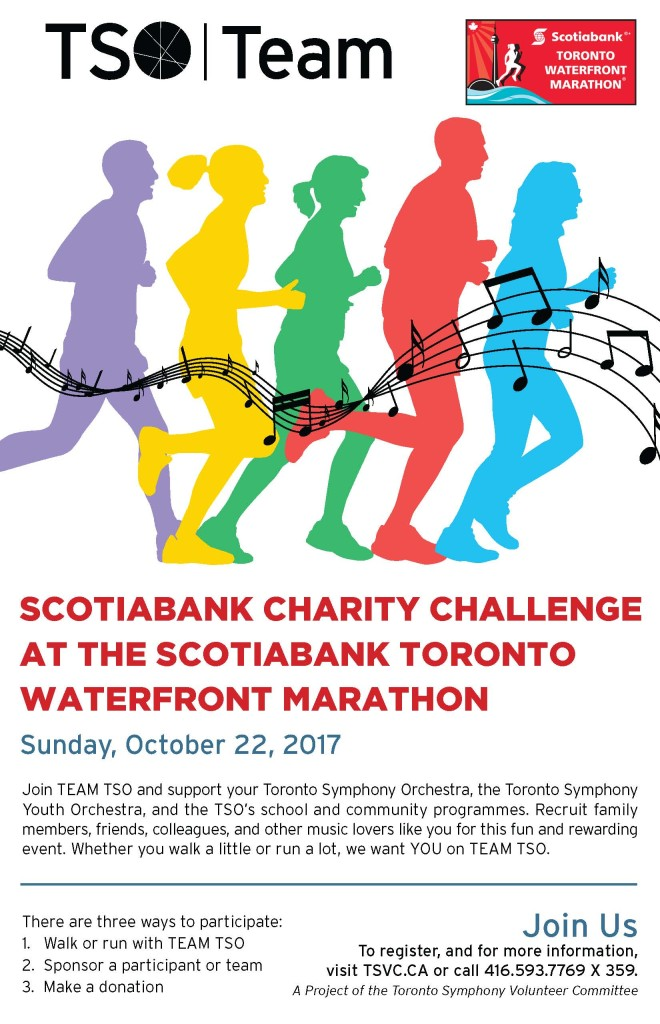 TSO Team flyer for 2017 Scotiabank Toronto Waterfront Marathon